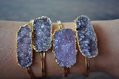 LUX Divine Druzy Stackable Gold Gemstone Bracelet