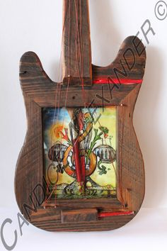 3D Fest for All Guitar Frame. This is handmade, hand painted and embellished guitar. $400.00 #candicealexander #louisiana #nola  #guitar #3dart #festival