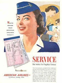 Al Parker, American Airlines ad, 1951 by Gatochy, via Flickr