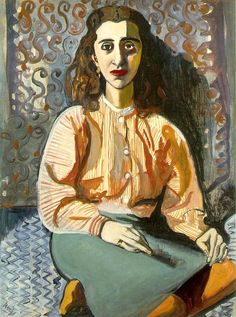 ♀ Painted Art Portraits ♀  Alice Neel | Young Woman, 1946