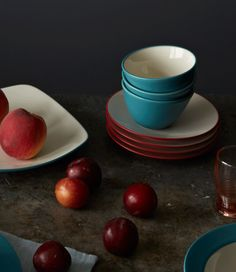 Colorwave Raspberry and Turquoise featuring the Mini Bowls and Mini Plates. / & Colorwave Green. http://noritakechina.com/colorwave-green.html ...