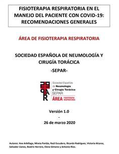 Acceso gratuito. Fisioterapia respiratoria en el manejo del paciente con COVID-19: recomendaciones generales Physical Therapy, Authors, Health