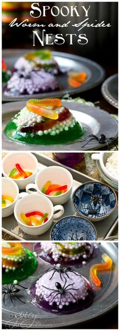 Worm Nests Halloween Jello Treats - Looks disgusting, tastes delicious! #halloween