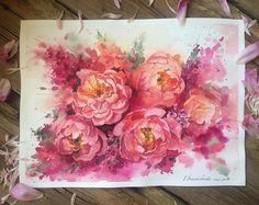 ПионыЭти цветы очень любили короли и королевы. На протяжении веков им украшали дворцы, его обожали художники, его разводили в богатейших викторианских садах. С ранней весны, когда появляются первые листья пиона и вплоть до того момента, когда раскрываются его великолепные цветы, он привлекает и завораживает своих почитателей. За величие и изысканность пион давно прозвали 'королем всех цветов'.. #виноградовакатерина #акварель #работаакварелью #творчество #акварельмоялюбовь #цветыакварелью…