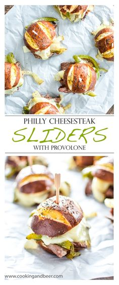 Philly Cheesesteak Sliders with Provolone  | www.cookingandbeer.com | @jalanesulia