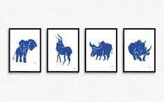 Safari MATISSE collection Blind contour art prints https://boahndesign.felt.co.nz International shipping available