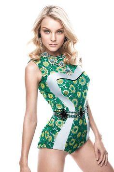 Jessica Stam | Spring/Summer 2012 in Harper's Bazaar