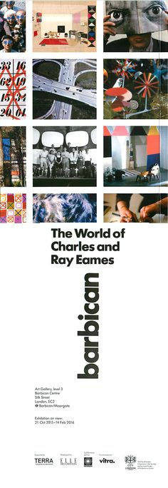 The World of Charles and Ray Eames @barbicancentre #eames #eameschair #london Opening October 2015 through February 2016!