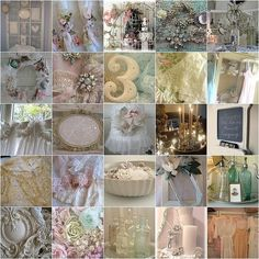Shabby chic wedding... only a month a half left. Exciting!