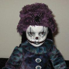 OOAK Horror Gothic Scary Porcelain Art Doll 'Evil' Little Clown Halloween | eBay
