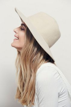 538188dff6951 Size S WIDE BRIM FEDORA. See more. Free People Clean Slate Felt Hat at Free  People Clothing Boutique Messy Hairstyles