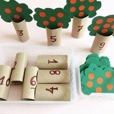 matemática brincando Simple, mas excelente atividade que ajuda n. Preschool Learning Activities, Infant Activities, Kindergarten Math, Preschool Activities, Teaching Kids, Kids Crafts, Kids Education, Instagram Tbt, Apple Tree