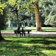 Relaxing in the park in Reggio Emilia - Instagram by @thinkingnomads
