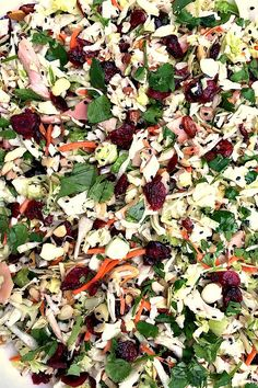 This Asian Chicken CranberrySalad can be served as a main dish, a side salad, a potluck or holiday dish! It's always the first to go. It's just that good!