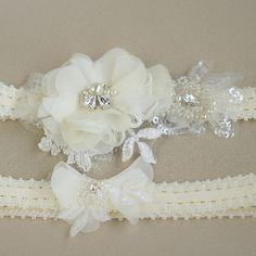 Lace Bridal garter Wedding garter Bridal Garter set от LeFlowers