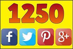1250 Social Signals High PR Backlinks