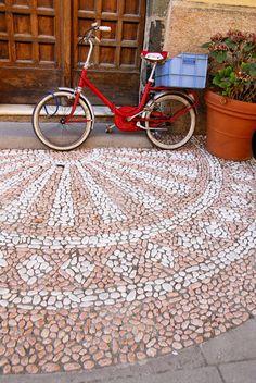 Monterosso al Mare, La Spezia, Italy Mosaic Flower Pots, Mosaic Pots, Pebble Mosaic, Mosaic Garden, Stone Mosaic, Pebble Art, Mosaic Glass, Mosaic Tiles, Concrete Projects