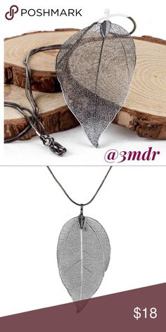 New Listing ‼️ Gunmetal Leaf Necklace Leaf Necklace ✨ Gunmetal ✨ NWT / Bundle and Save / Ask me any questions / Reasonable Offers Always Welcomed Jewelry Necklaces