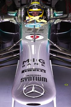 Front end of Nico Rosberg's Mercedes at Sepang.