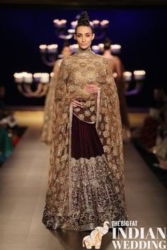 Manish Malhotra's Ombre Gold Collection {India Couture Week 2014} - Gallery - TheBigFatIndianWedding.com