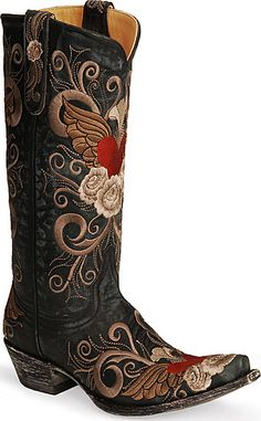 Tyler is going to buy me some cowboy boots as a wedding present, but I can't find any I'm totally in love with.... :(