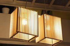Lampara Colgante De Diseño En Madera Mdf - $ 480,00
