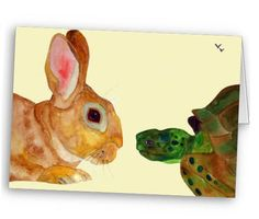 Tortoise and Hare Notecard, Greeting Card