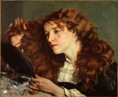 Gustav Courbet. Beautifull irish girl.