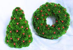 Árbol Navidad verde verde Pom Pom Navidad árbol por PomPomMyWorld