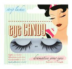 Eye Candy 50's Style False Eyelashes with Glue Adhesive Fake Lashes BRAND NEW!