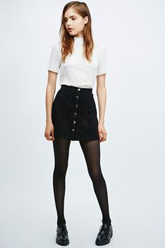 24ff336136268 Cooperative A-Line Cord Skirt - Urban Outfitters Black A Line Skirt