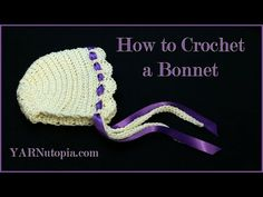 How to - DIY - #Crochet Newborn Baby Bonnet - Easy crochet #TUTORIAL #82 - YouTube
