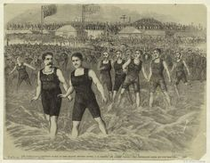 The international swimming match at Long Branch, between Messrs. J. B. Johnson and Andrew Trautz.