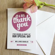retro vintage personalised thank you card by project pretty | notonthehighstreet.com