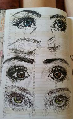 Imagem de art, drawing, and eyes