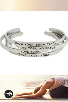 Inspirational Mantra Jewelry Yoga Bracelets