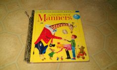 1962 A Little Golden Book MANNERS Giraffe PEGGY PARISH Richard Scarry Classic HC