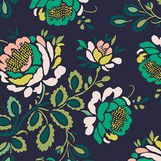 AGF Studio - Floralia Fusion Rayon - Stenciled Petals Rayon in Floralia