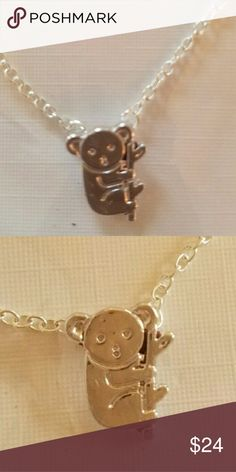 Cute Koala Bear Necklace Necklace is 100% Brand New and High Quality.  Item Type:Necklaces Pendants. Pendant Tyle:Animal. Metals Type:Zinc Alloy. Color:Silver Chain Type:Link Chain. Pendant Size:19mmx18mm. Length:18inch. Jewelry Necklaces