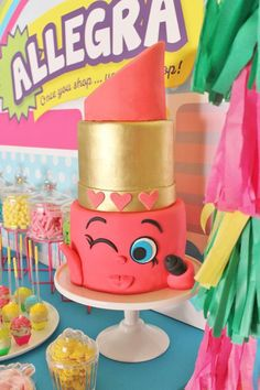 This is such an adorable Shopkins birthday party styled with l♥ve by Amber from The Sweet Cart for her daughters birthday celebration. There are so many party details to LOVE about this … Bolo Shopkins, Fete Shopkins, Shopkins Birthday Cake, Shopkins Cookies, Shopkins Room, 9th Birthday Parties, 8th Birthday, Birthday Celebration, Birthday Ideas