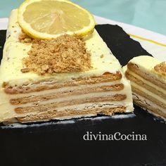 Esta tarta helada de limón es un postre fácil que se prepara con ingredientes muy sencillo, pero siempre resulta festivo y especial.