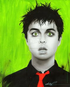 Painting of Billy Joe Armstrong / Green Day by Christian Chapman.