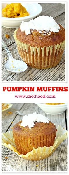 This is the perfect muffin! Awesome texture, extremely flavorful, and it's made with PUMPKIN!