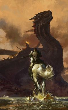 Prepare to be transported to the astonishing fantasy worlds created by concept artist and illustrator Bayard Wu. Bayard Wu has an impressive body of work and an… Dark Fantasy Art, Art Game Of Thrones, Drogon Game Of Thrones, Game Of Thrones Dragons, Illustrator, John Howe, Winter Is Here, Mother Of Dragons, Dragon Art