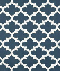 Premier Prints Fynn Cadet Macon Fabric - onlinefabricstore.net #blue #quatrefoil #sewing