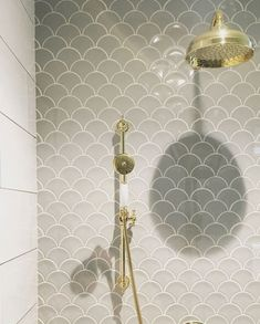 scallop tiles bathroom - Go for beautifully unique bathroom final view by installing scallop patterned tiles on the walls. scallop tiles bathroom - Go for beautifully unique bathroom final view by installing scallop patterned tiles on the walls. Best Bathroom Tiles, Dream Bathrooms, Bathroom Fixtures, Bathroom Flooring, Amazing Bathrooms, Tiled Bathrooms, Bathroom Ideas, Bathroom Designs, Bathroom For Kids