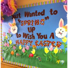 my Easter board at school :)