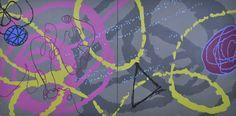 "Zippity, 40"" x 80"", acrylic on canvas, Adria Arch"