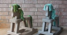 Finally some of the holiday crafting is coming together!       The boys are each getting their own toddler sized rocking horse for Christm...