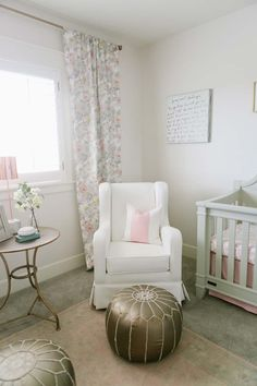 baby girl nursery decoration ideas pink gray and white